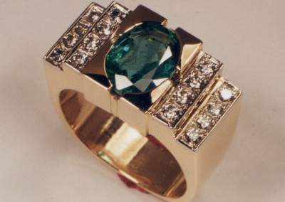 0063 Emerald Diamond Dinner Ring 2