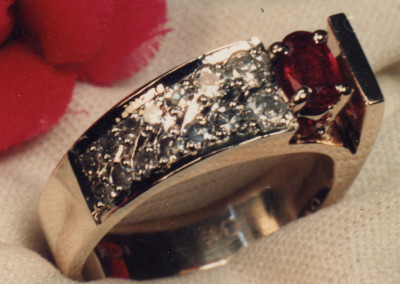 0092 Ruby & Diamond Dinner Ring