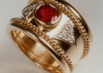 0193 Ruby & Diamond Byzantine