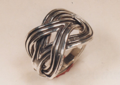 0222 Copy of Bizantene 3000 years knot ring silver